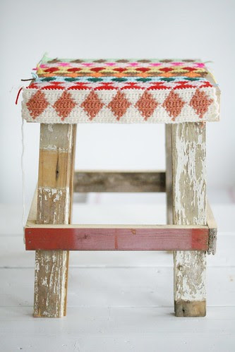 w♦♦d & w♦♦l st♦♦l by wood & wool stool