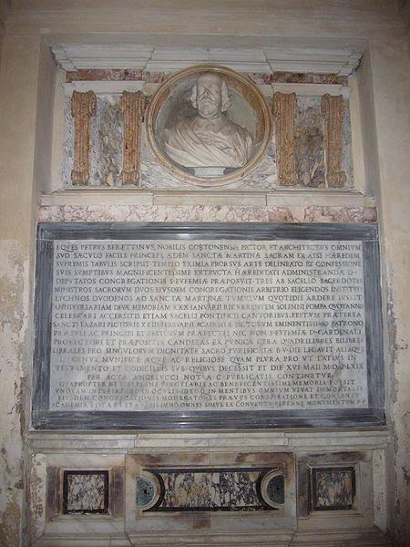 File:Ss Luca e Martina - 1669 sepolcro e testamento di Pietro da Cortona 1250609.JPG