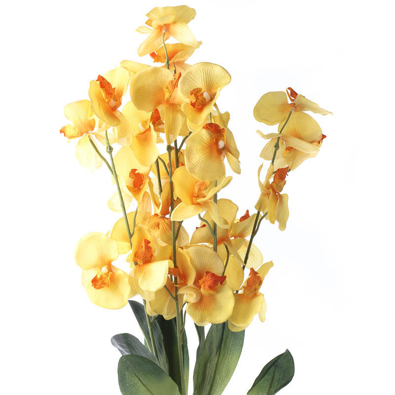 Yellow Artificial Orchid Bush  Bushes and Bouquets