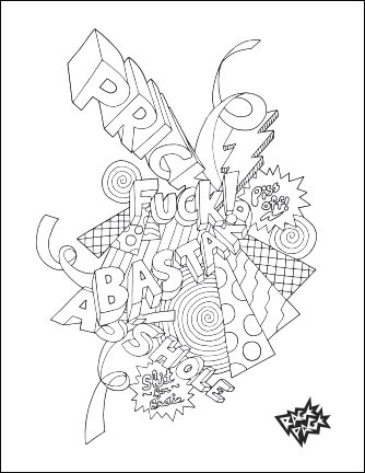 can't fix stupid  swear word coloring book