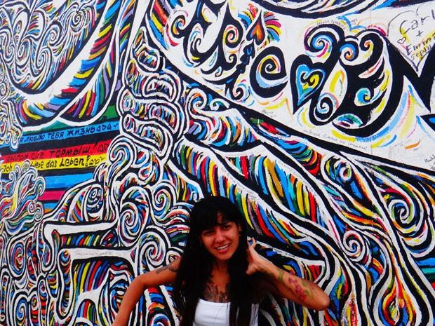 Aline em Berlim (Foto: Aline Campbell/Arquivo pessoal)