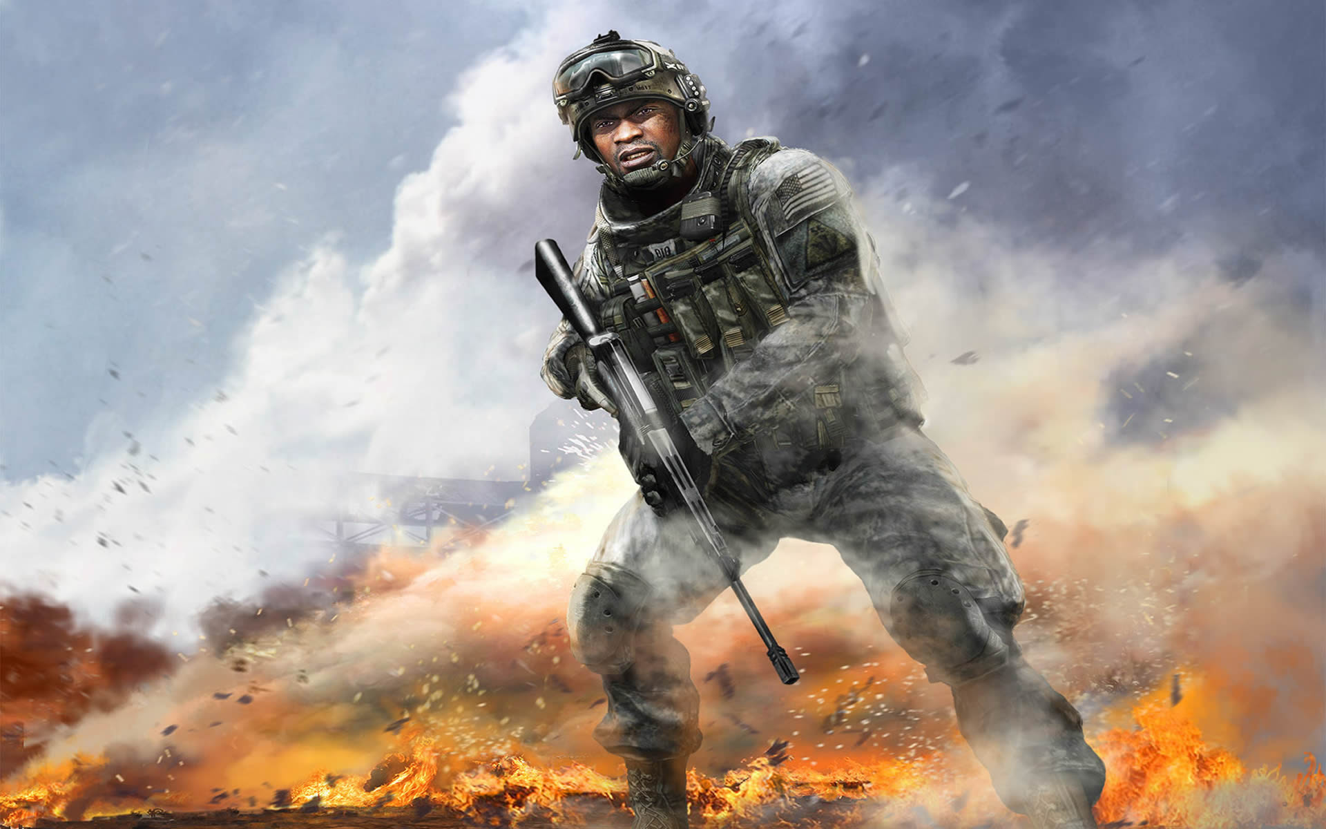 In The Midst Of Action Call Of Duty Modern Warfare 2 Wallpaper