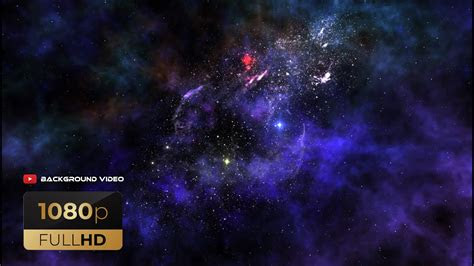 star space background video ruang nebula