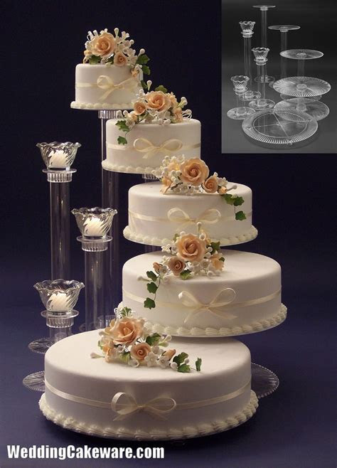 5 tier cascading wedding cake stand stands / 3 tier candle