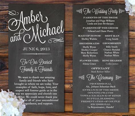 7 Pretty Perfect Wedding Program Ideas   Aisle Perfect