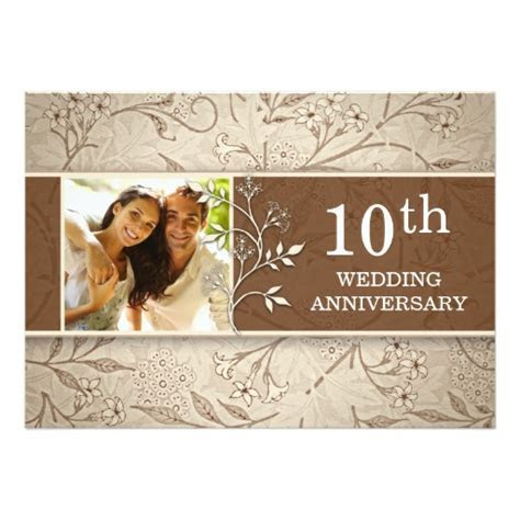 10th wedding anniversary photo invitations   Zazzle