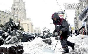 Snow storm Moscou