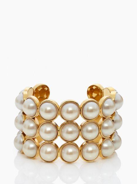 pearl cuff. love it. @Kate Mazur spade new york