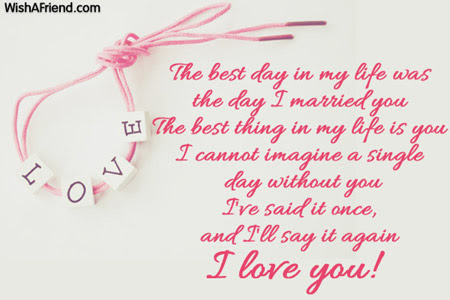 The Best Day In My Life Love Message For Wife