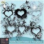 Swirly Heart Frames 2 Templates TS - CU