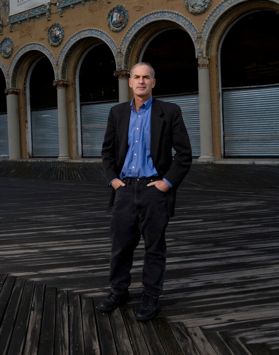 Norman Finkelstein down by the sea in Brooklyn