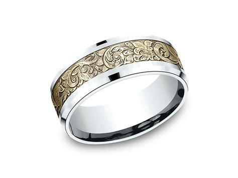 Two Tone Comfort Fit Design Wedding Ring CF81864814KWY11.5