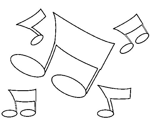 Notas Musicales Para Dibujar Cantineoqueteveo