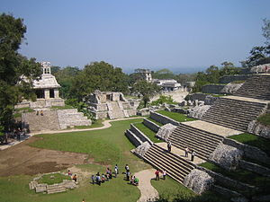Palenque palace in Mexico