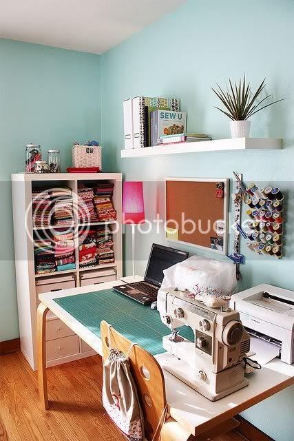 oraganized craft space