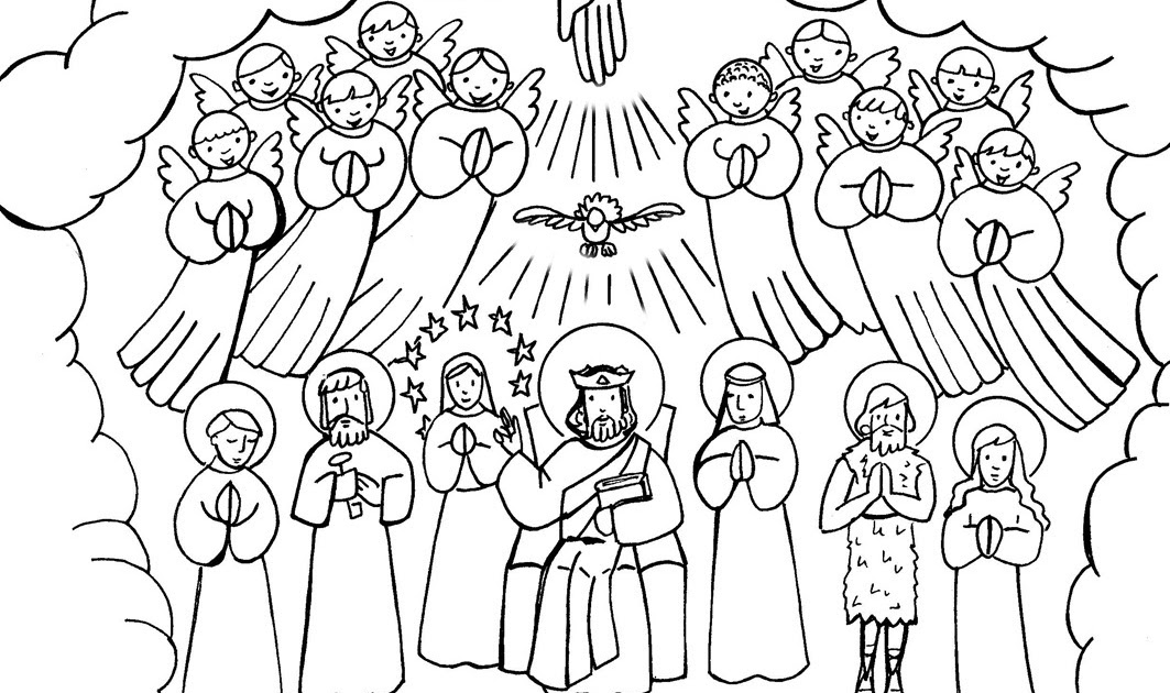All Saints Day Coloring Pages Home Sketch Coloring Page ...