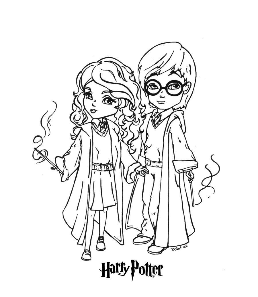 Coloriage  imprimer Personnages cél¨bres Harry Potter numéro