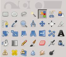 L'icona della selezione per colore nella barra degli strumenti