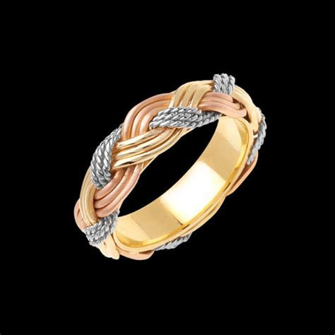 Unique Trio Braided Wedding Band at Gracious Rose Jewelry
