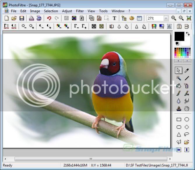 PhotoFiltre - A complete image retouching program