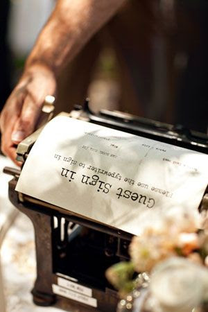 There has to be someone with an old typewriter somewhere. What a cool idea.