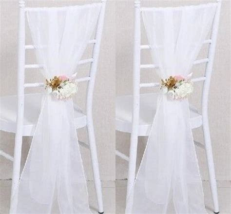 2019 2017 Cheap Sample Wedding Chair Sashes White Wedding