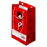 Ballerina Doll | Ballet | Red | Personalize Small Gift Bag