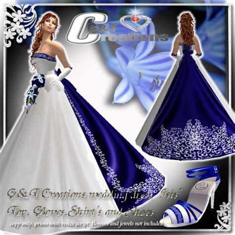 bridal style and wedding ideas: Royal Blue Wedding Dress