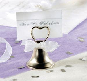 Silver Bell Place Card Holder 2 1/8in   Party City