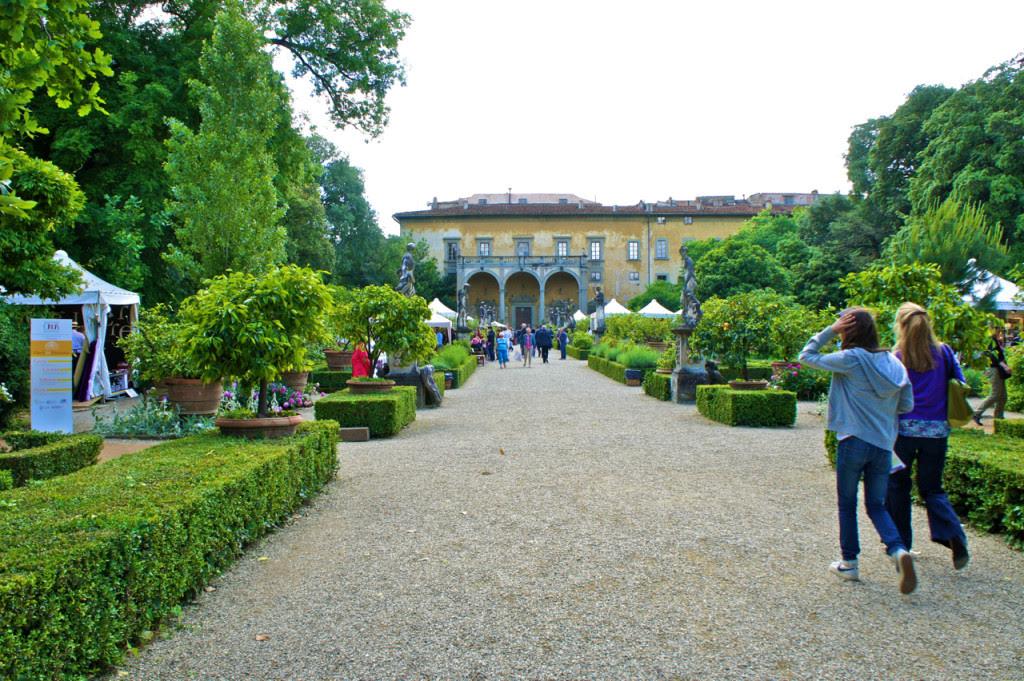 O jardim do Palazzo Corsini
