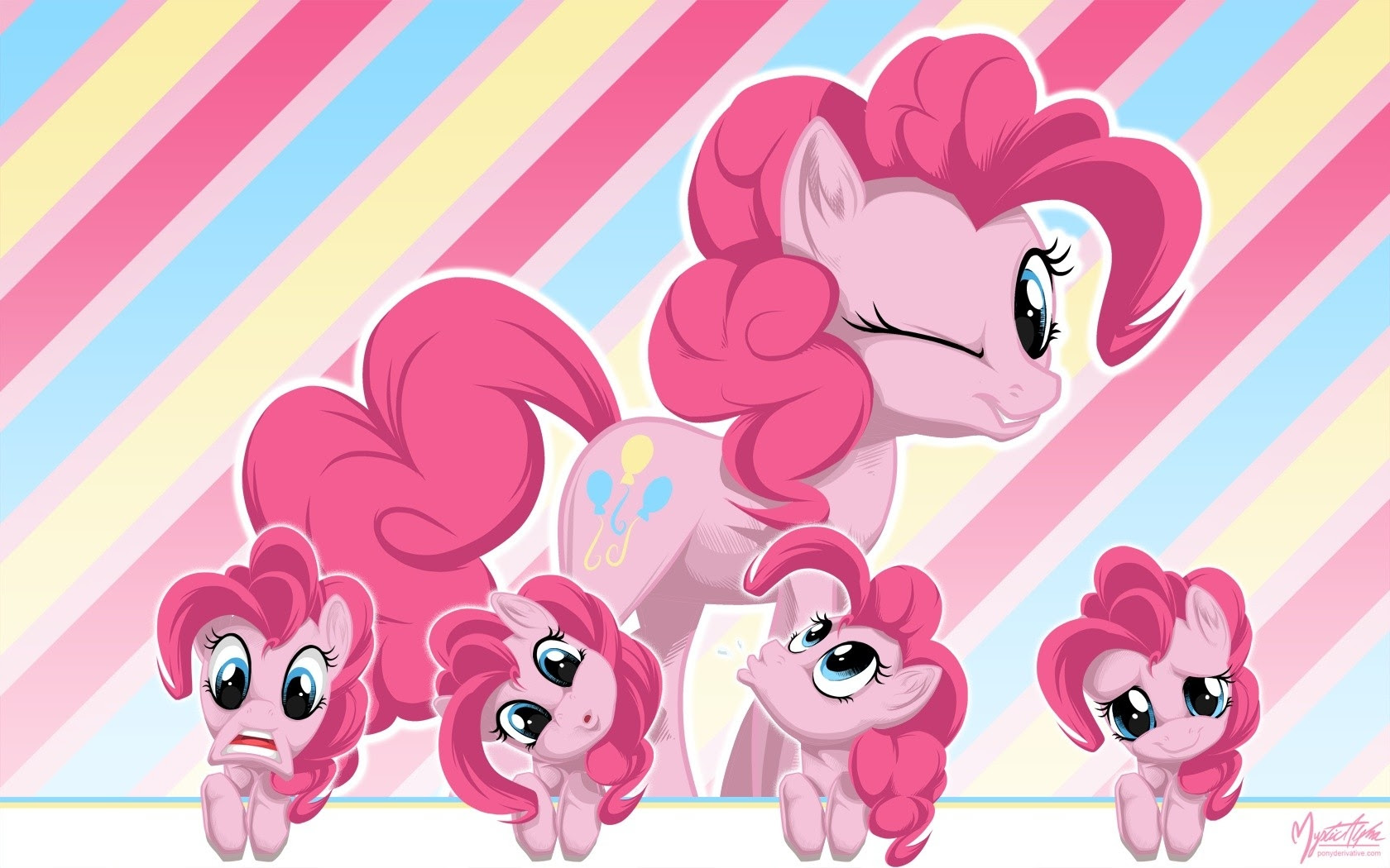 Wall My Little Pony Pinkie Pie Faces 1680x1050 Wallpaper High