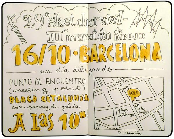 29th sketchcrawl in barcelona