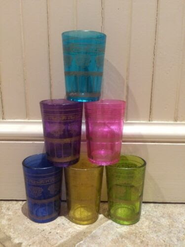 lot antique vintage universal okay glass great color!