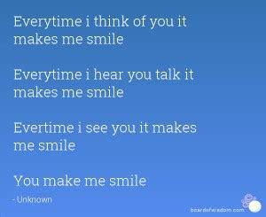 Thinking You Makes Me Smile Quotes