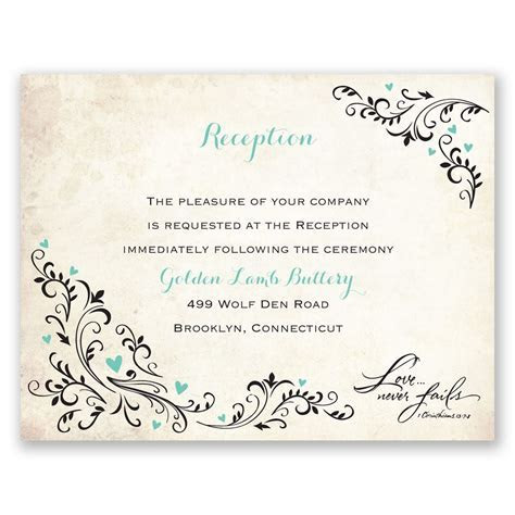 Blossoming Love Reception Card   Ann's Bridal Bargains