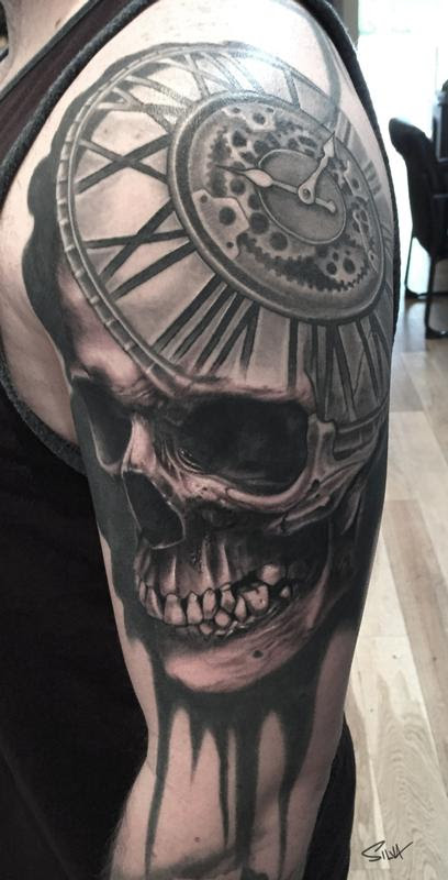 Paradise Tattoo Gathering Tattoos New School Custom Skull