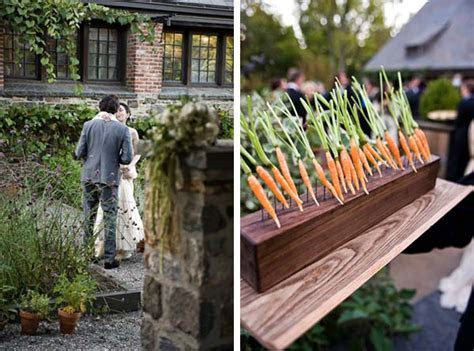 farm wedding carrot vegetable decor   Once Wed