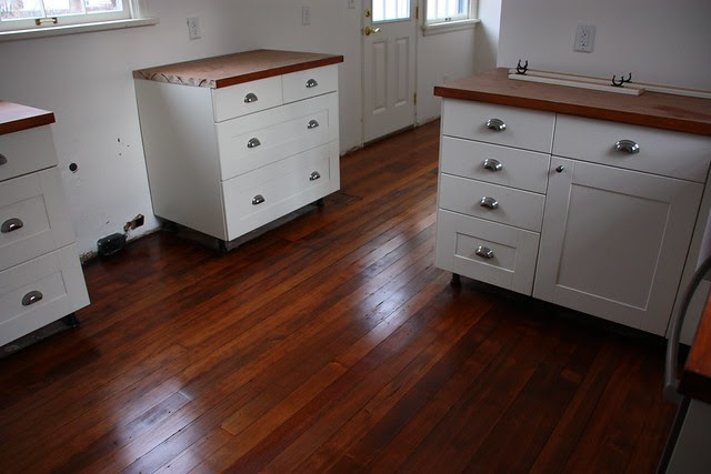 newly stained floor