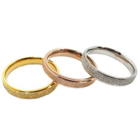 Wholesale Couple Rings Vintage Titanium Cheap Dull Polish