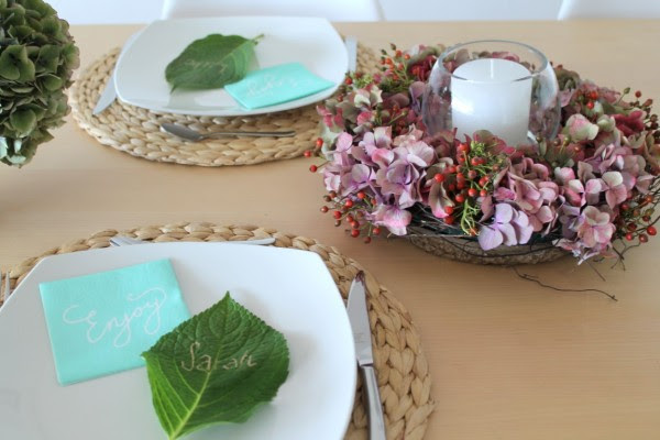 TIZIANO Herbstdekoration Hortensienkranz