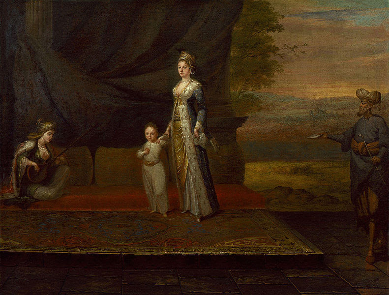 File:Lady Mary Wortley Montagu with her son,  Edward Wortley  Montagu, and attendants by Jean Baptiste Vanmour.jpg