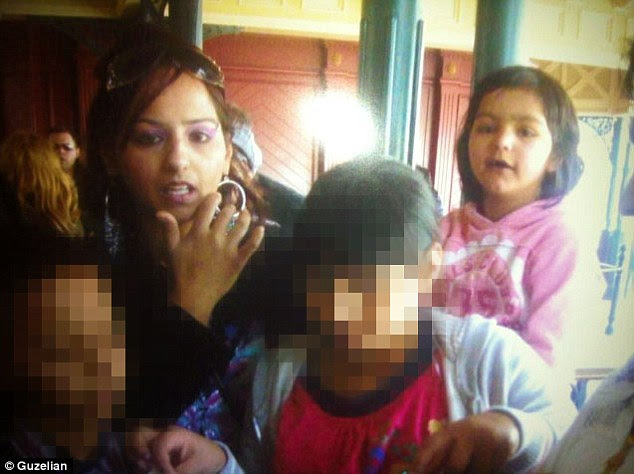 Sobia Yousef, 36, died after grabbing a knife from the shelf of her local Asda store in Shipley, West Yorkshire, before plunging it into her throat in front of horrified shoppers. Mrs Yousef with her three children, including her late daughter Meweesh, nine, right
