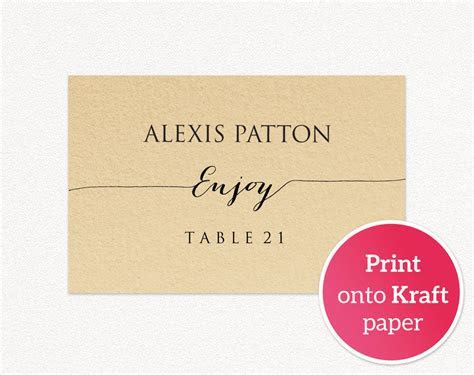 Wedding Place Card Templates · Wedding Templates and