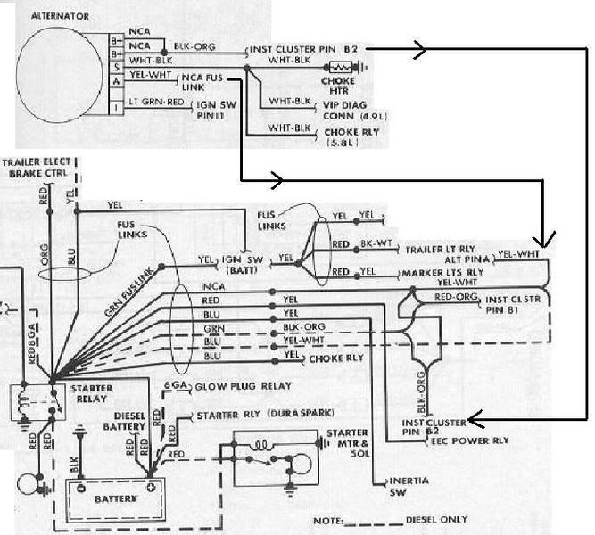 1978 Ford F 150 Alternator Wiring Diagram