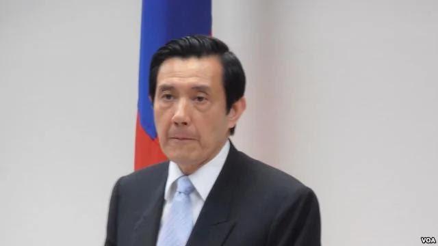 台湾总统马英九(美国之音申华拍摄)