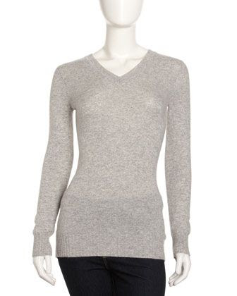 Oats Cashmere Deep V Sweater