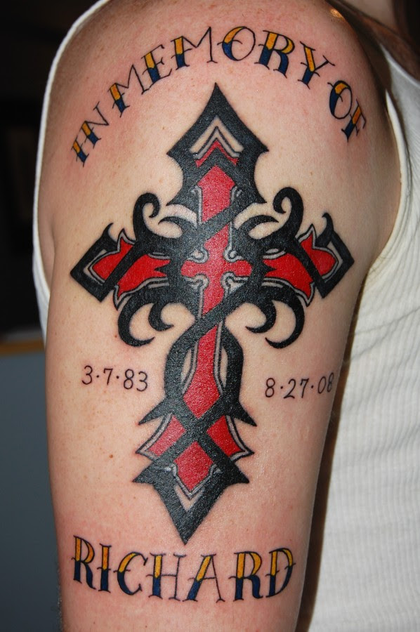 Tattoo Cross Designs Red Black Cross Tattoomagz