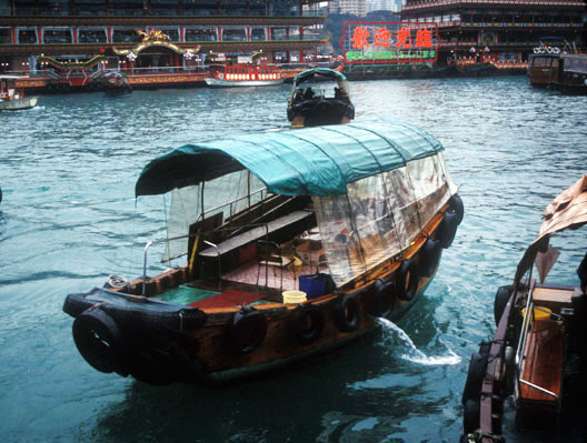 Image result for fisherman living in boat in hongkong