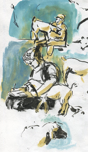 Sketchcrawl/Pedalpalooza - Urban Goats