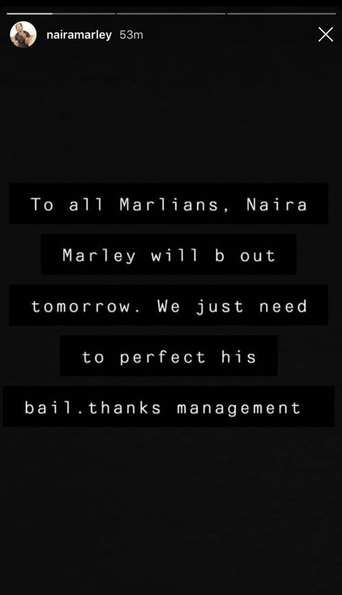 Exclusive Update - Naira Marley will be out tomorrow once we perfect his bail conditions – Management says